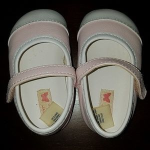 Janie and Jack pink leather shoes size 2